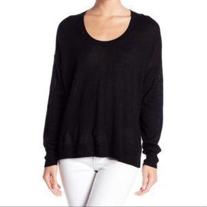 NEW Madewell Merino Wool Blend Pullover Black XL